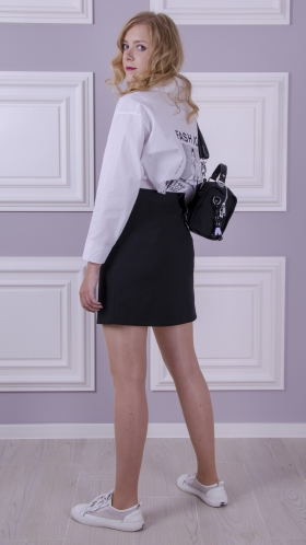 [061:] Юбка костюмка (черный)