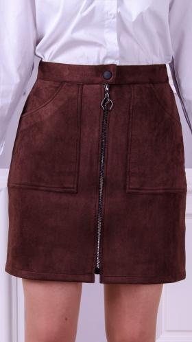 [061:] Юбка замша (коричневый)