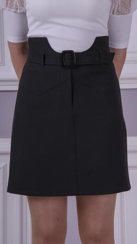[072:] Юбка костюмка (черный)