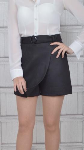 [001:] Юбка-шорты замша (черный)