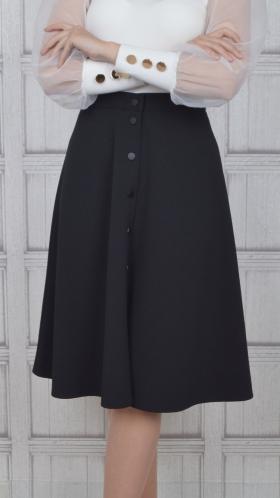 [057:] Юбка костюмка (черный)