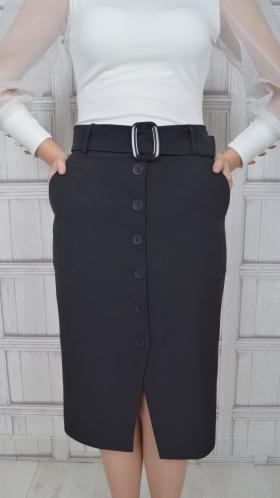 [068:] Юбка костюмка (черный)