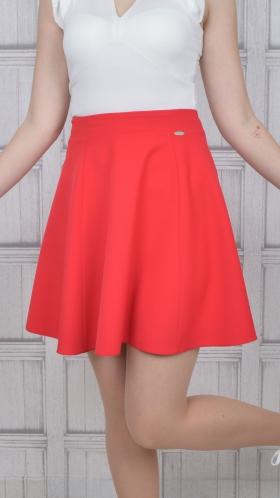 [022:] Юбка костюмка (красный)