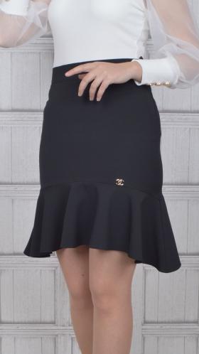 [037:] Юбка костюмка (черный)